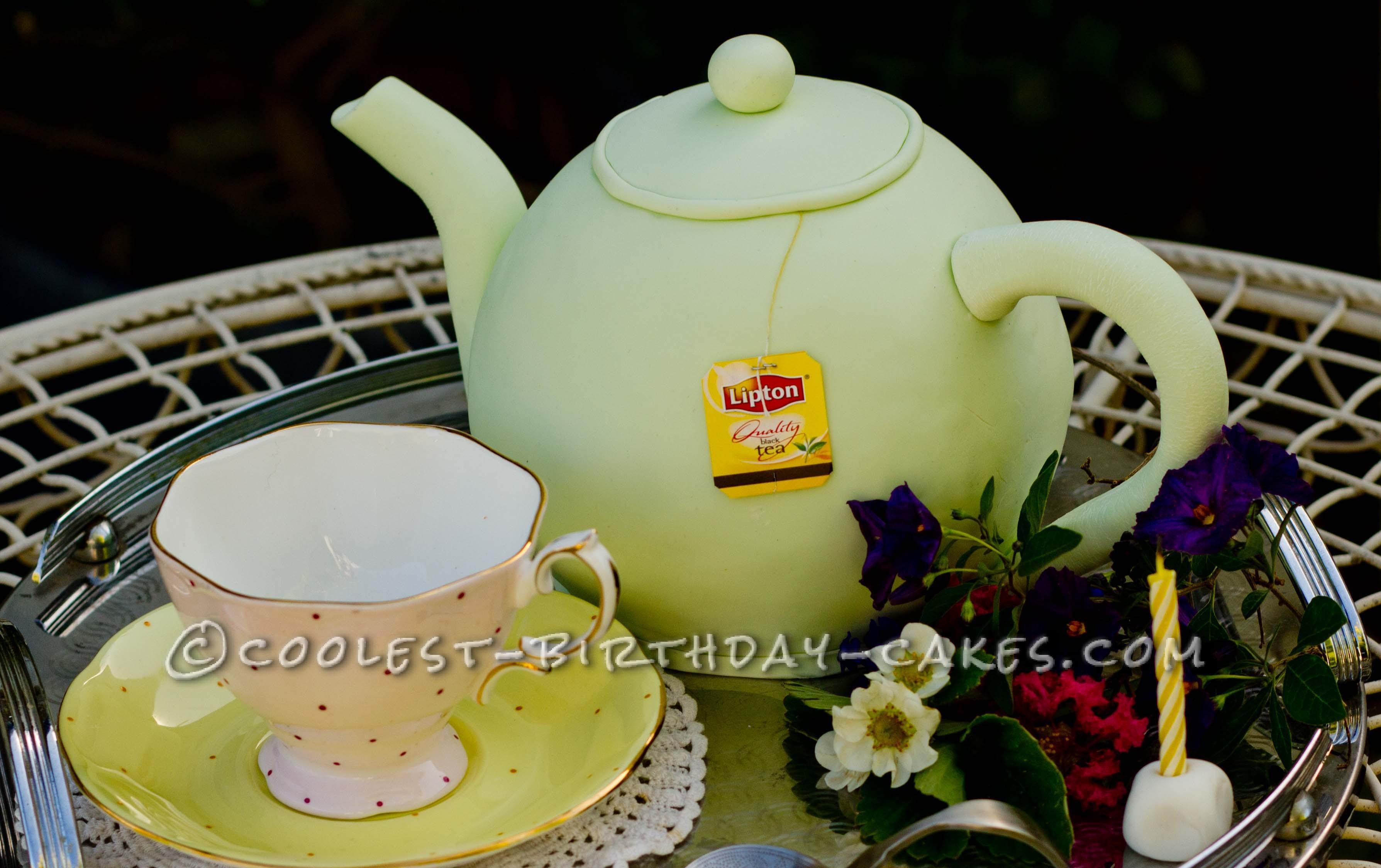 Coolest Tea Pot Birthday Cake