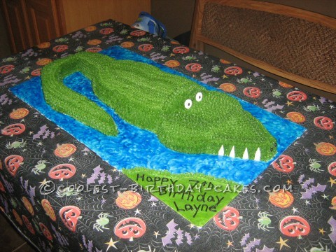 Cool Alligator Cake to the Rescue