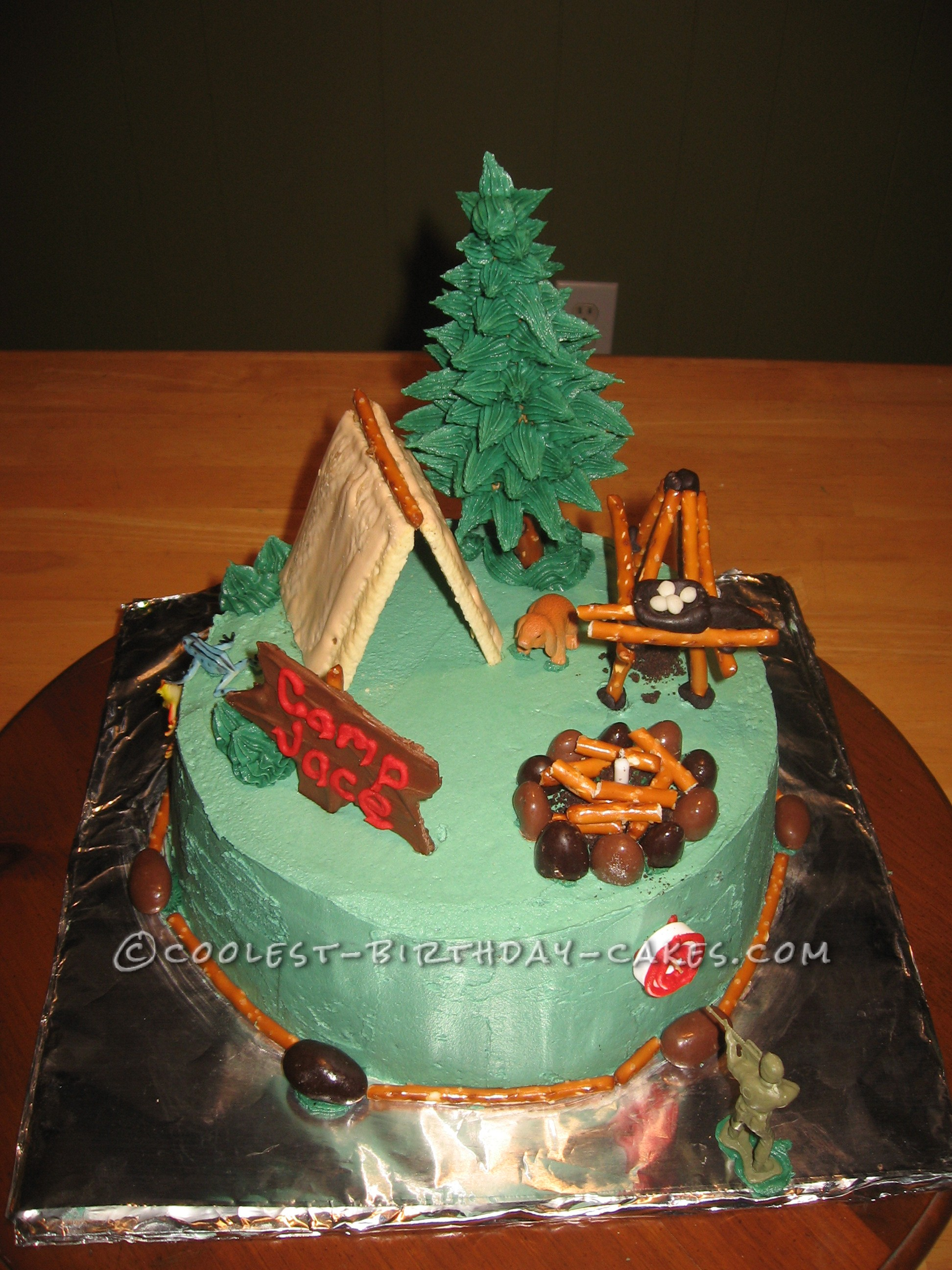 You Can Do It Camping Cake
