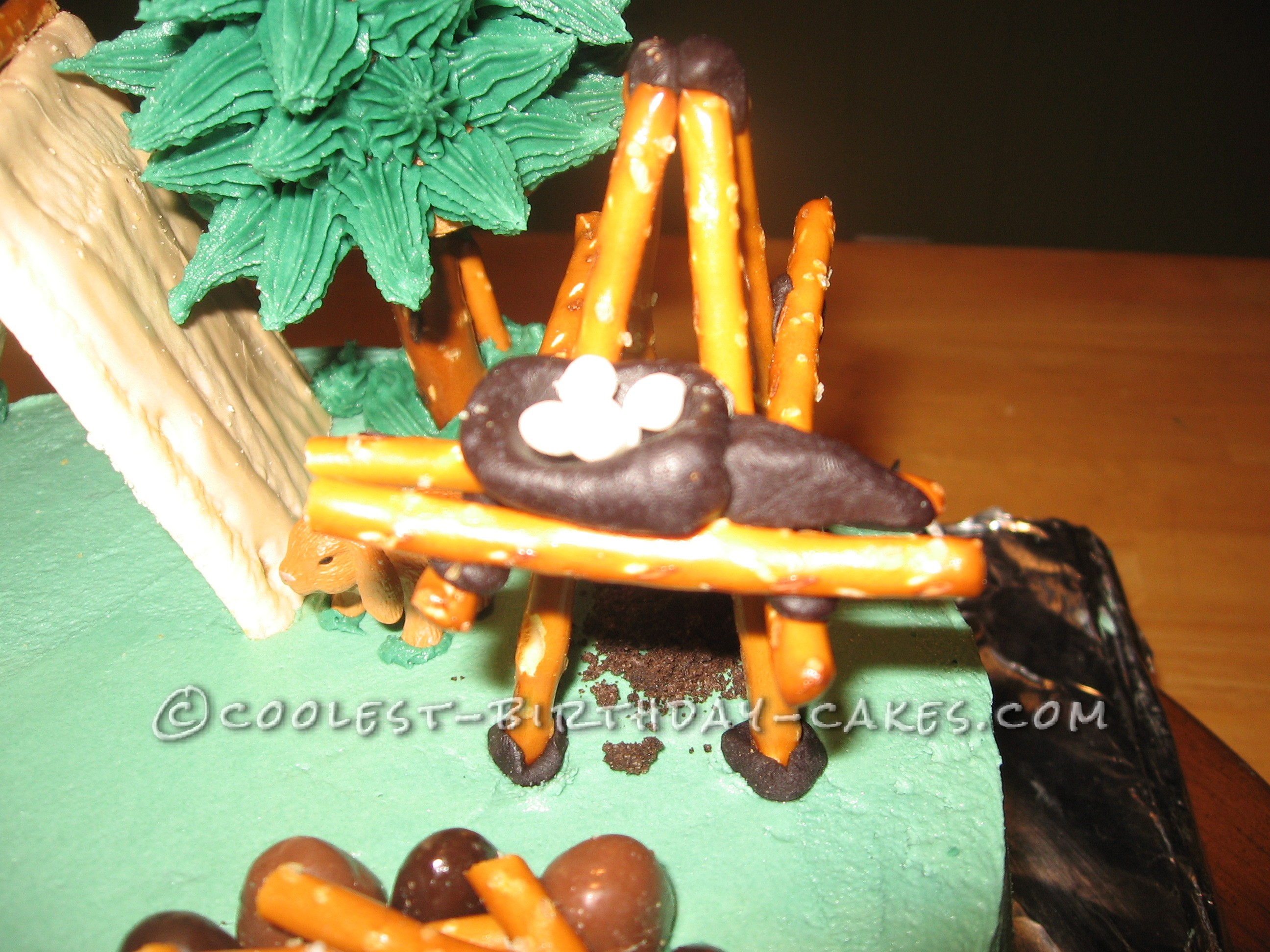 You-Can-Do-It Camping Cake