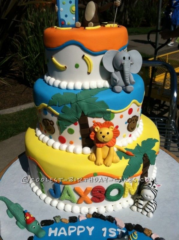 Coolest Zoo Themed Birthday Cake