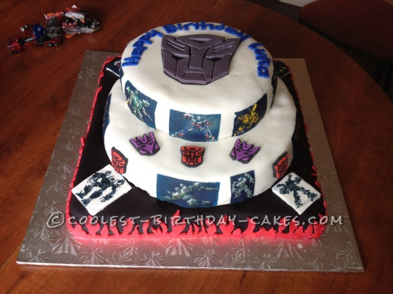 Cool Transformers Mega Birthday Cake