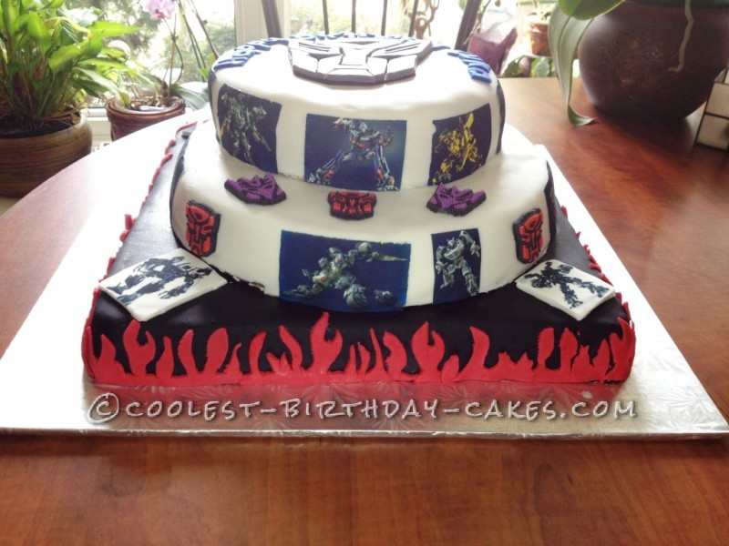 Cool Transformers Mega Birthday Cake