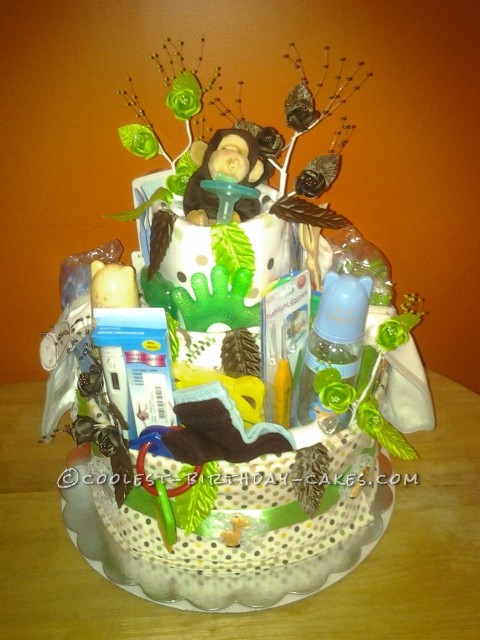 Welcome to the Jungle Diaper Cake