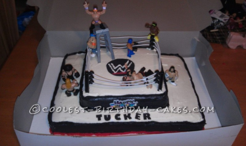 Swell Cool Wwe Wrestling Cake Made With Buttercream Icing Personalised Birthday Cards Paralily Jamesorg