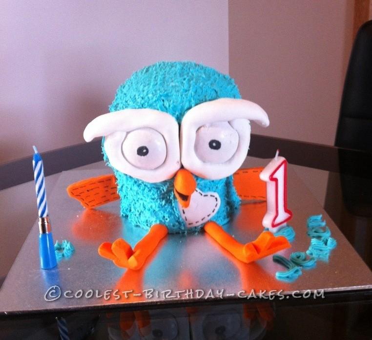 Pleasant Coolest 3D Hoot The Owl Birthday Cake Funny Birthday Cards Online Amentibdeldamsfinfo