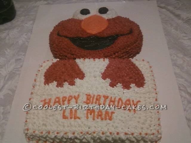 1st Birthday With Elmo Cake