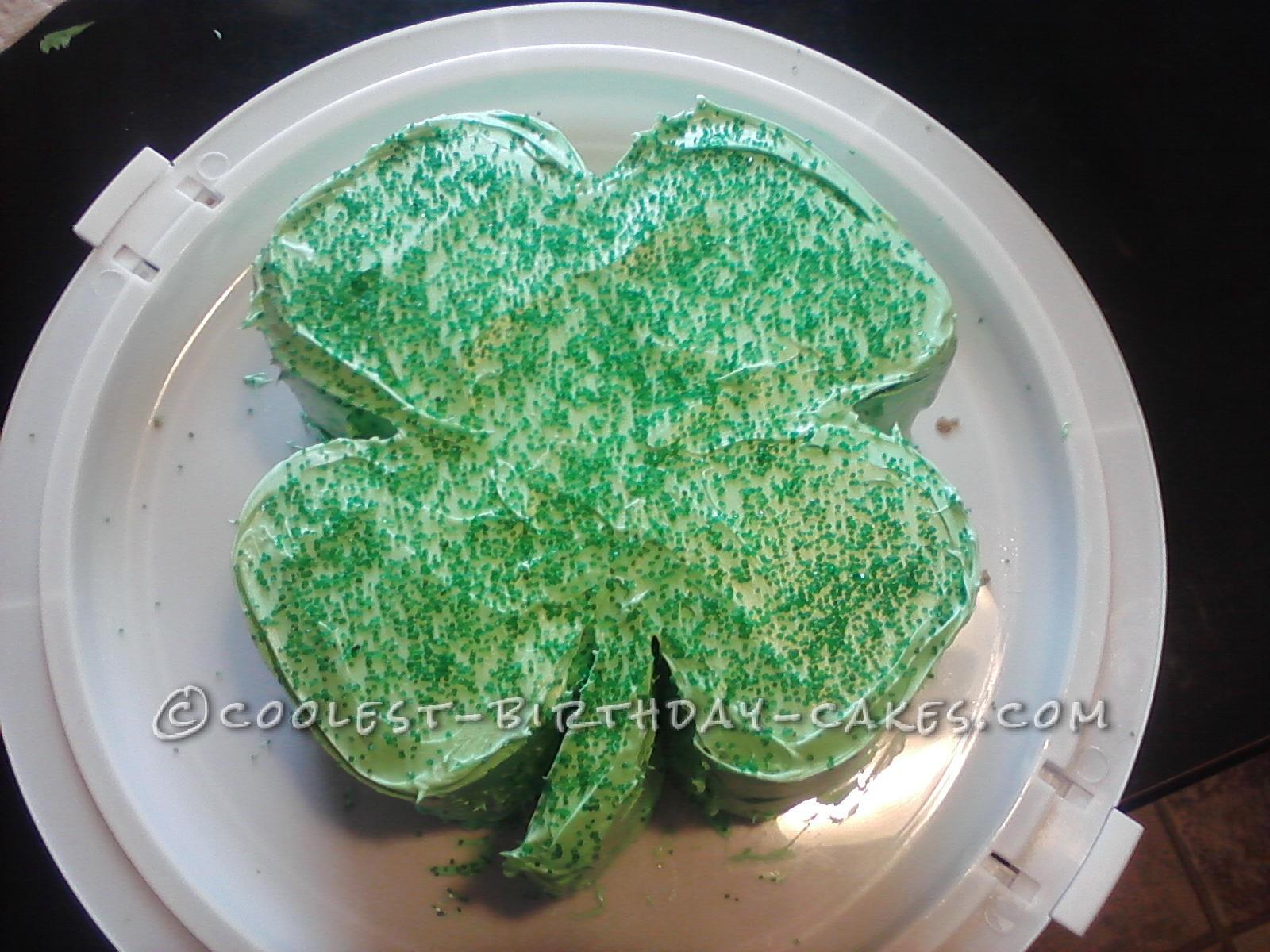 Coolest 4 Leaf Clover Cake