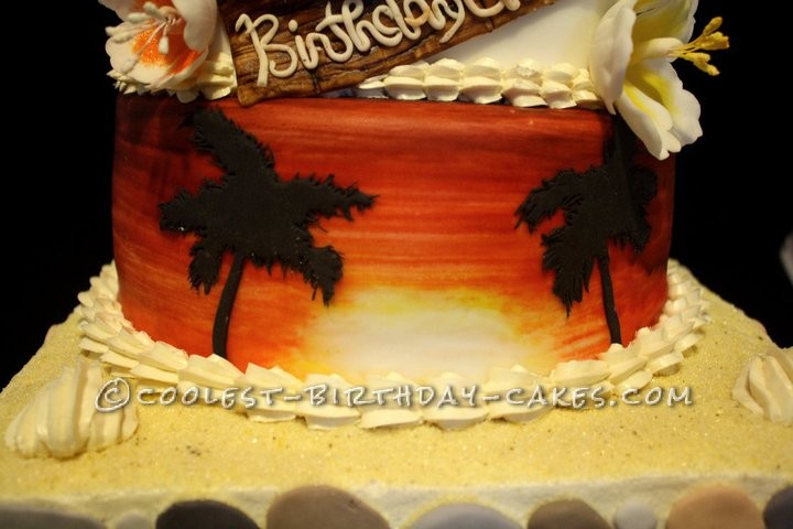 Coolest 50th Birthday Luau Cake