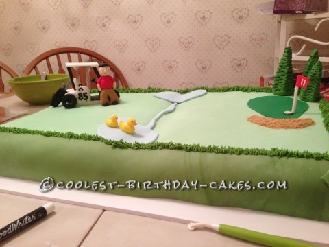 Coolest 85th Outing Golf Cake