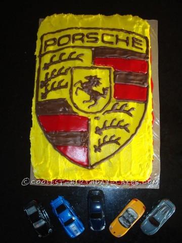 Coolest Porsche Logo cake
