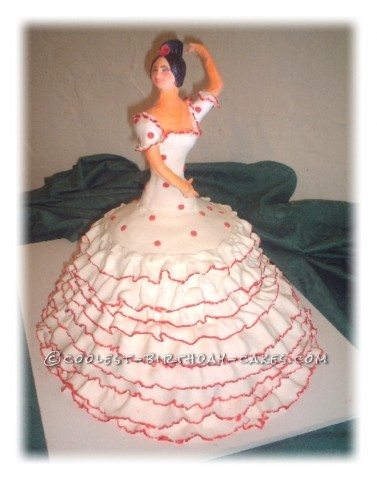 Awesome Flamenco Dancer Cake