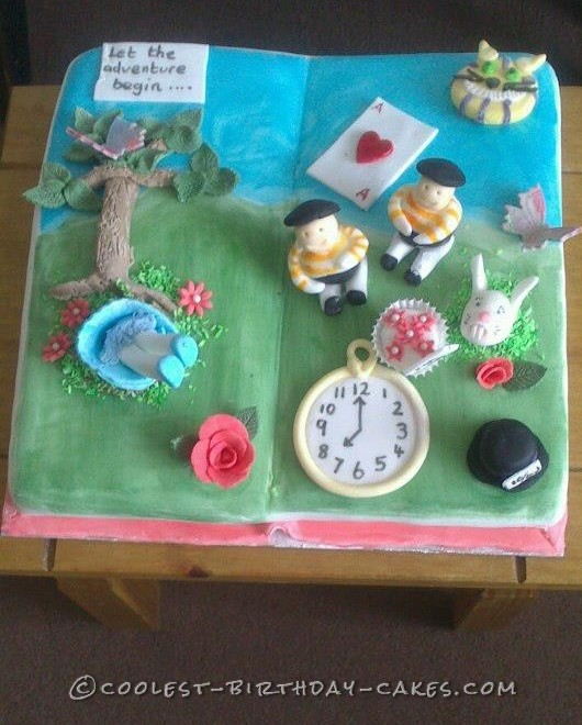 Original Alice In Wonderland Themed Cake