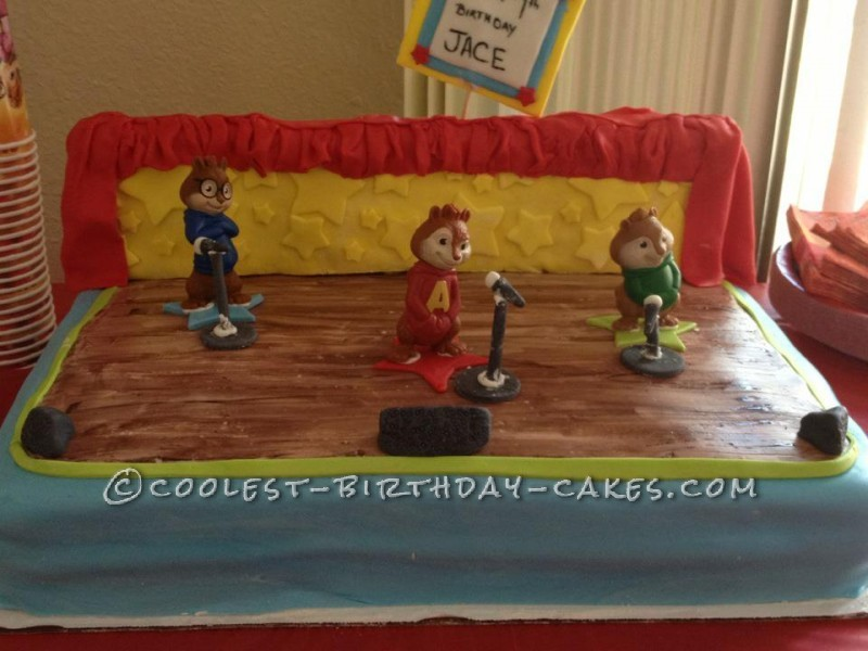 Wondrous Coolest Alivn And The Chipmunks Birthday Cake Funny Birthday Cards Online Sheoxdamsfinfo