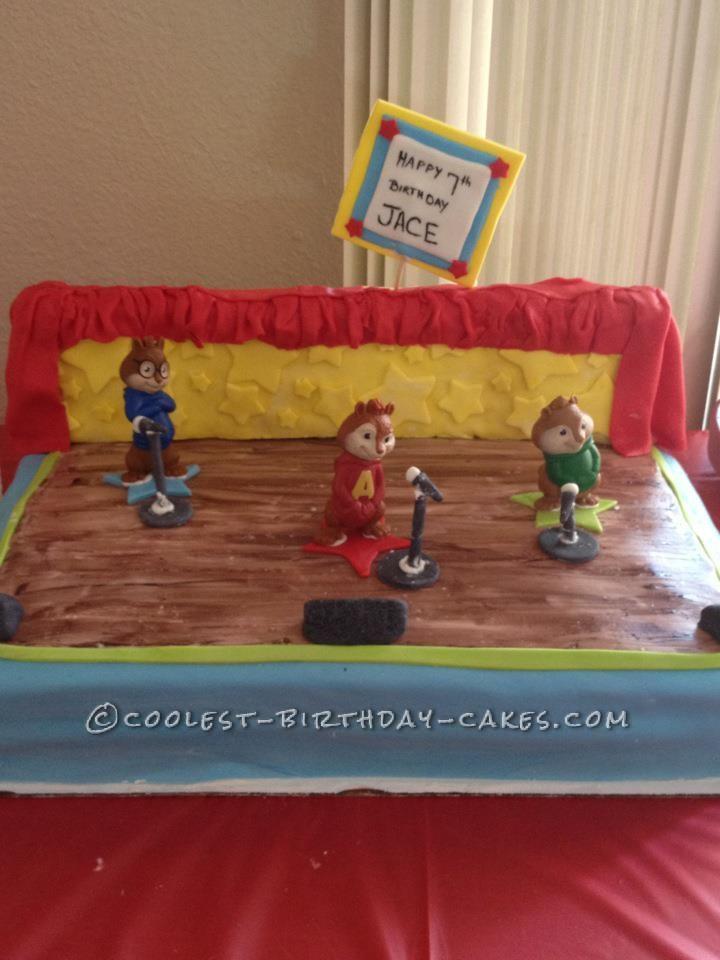 Coolest Alivn and the Chipmunks Birthday Cake