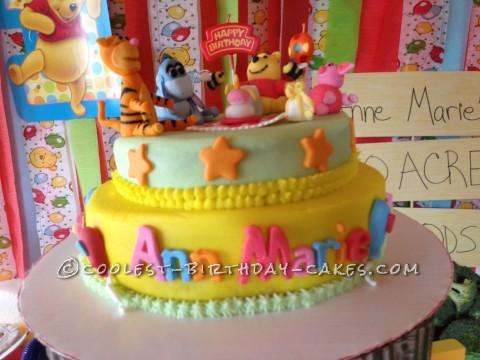 Winnie the Pooh 1st Birthday Cake