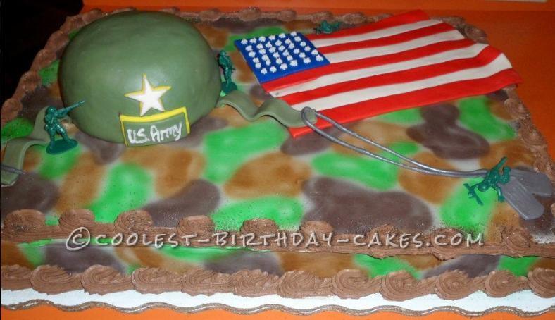 Army Helmet Cake