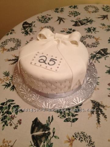 Homemade 25th Anniversary Cake