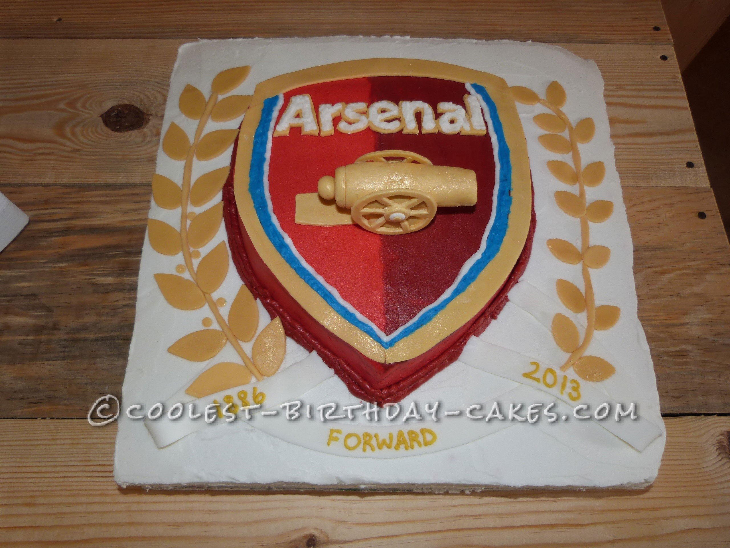 Awesome Arsenal Football Club Cake For A Soccer Fanatic