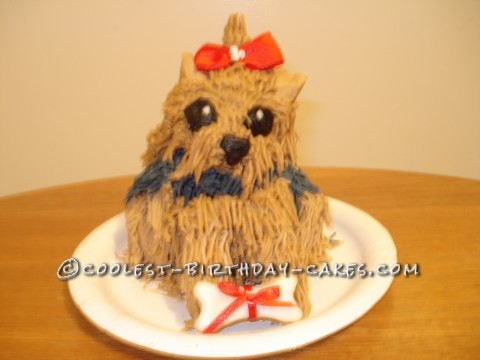 Awesome Yorkie Cake
