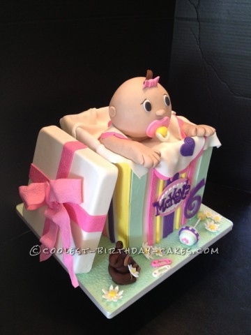Baby Doll in a Box Birthday Cake