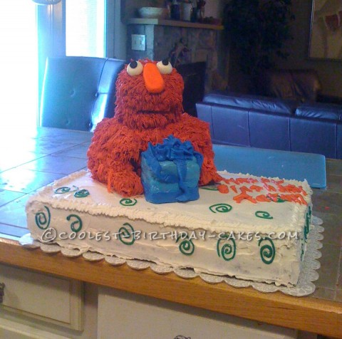 Coolest Baby Elmo Birthday Cake