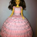 Cool Ball Gown Doll Birthday Cake