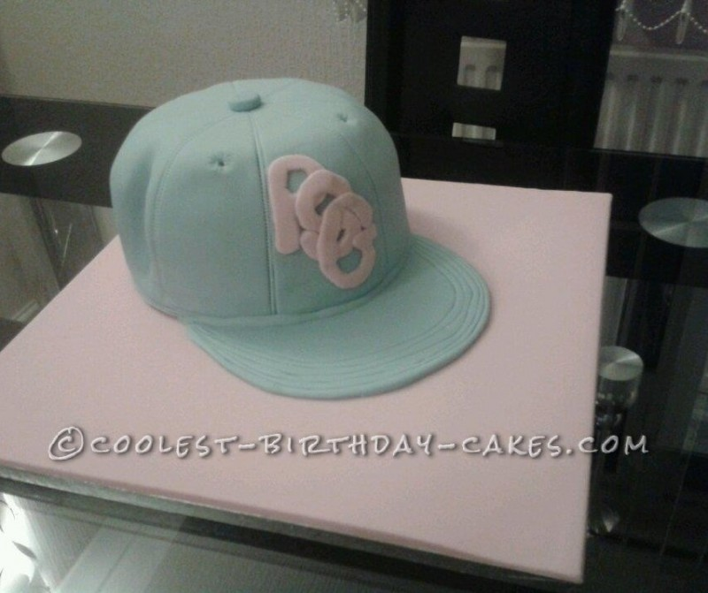 Baseball Cap Cake for my Granddaughter who Lives for Street Dancing