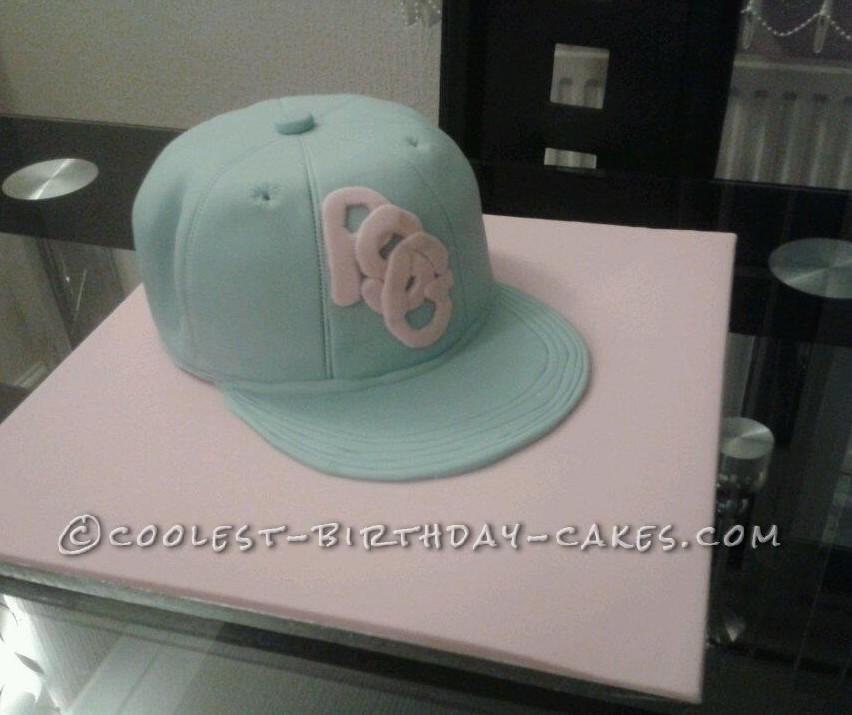 Baseball Cap Cake for my Granddaughter who Lives for Street Dancing
