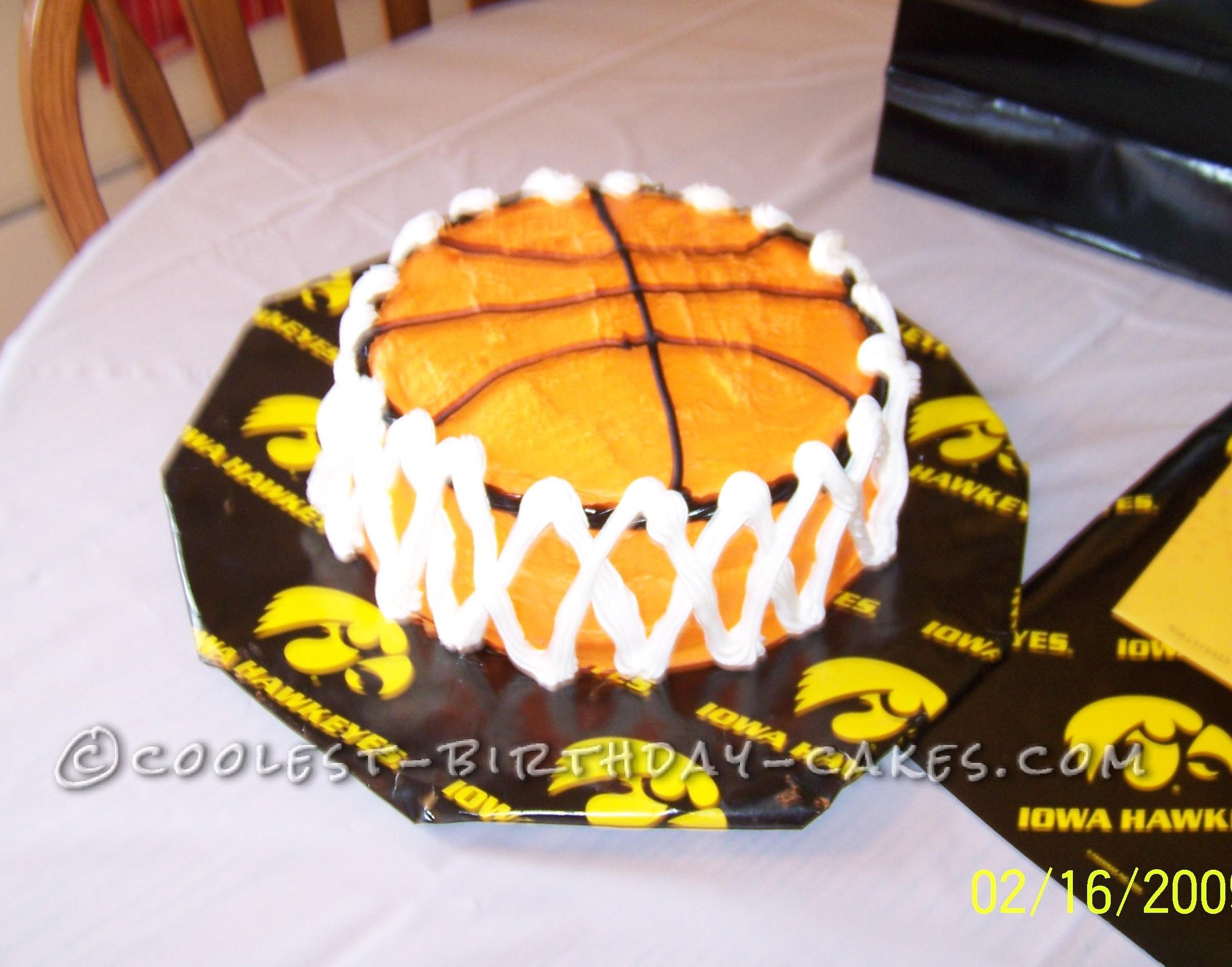 Cool Basketball Cake