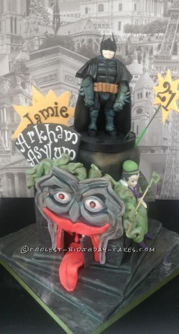 Batman Arkham City Asylum Cake