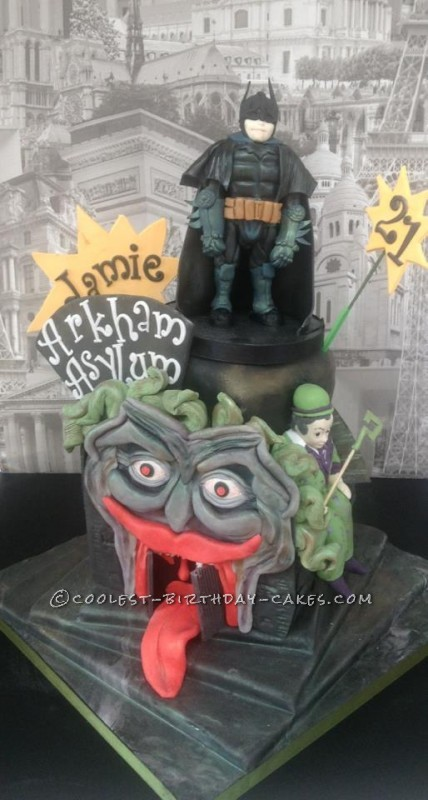Batman Birthday Cake - Arkham City Asylum Cake