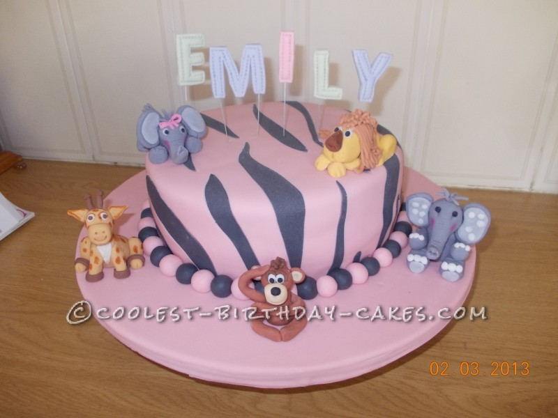 Beautiful Baby Animal Christening Cake