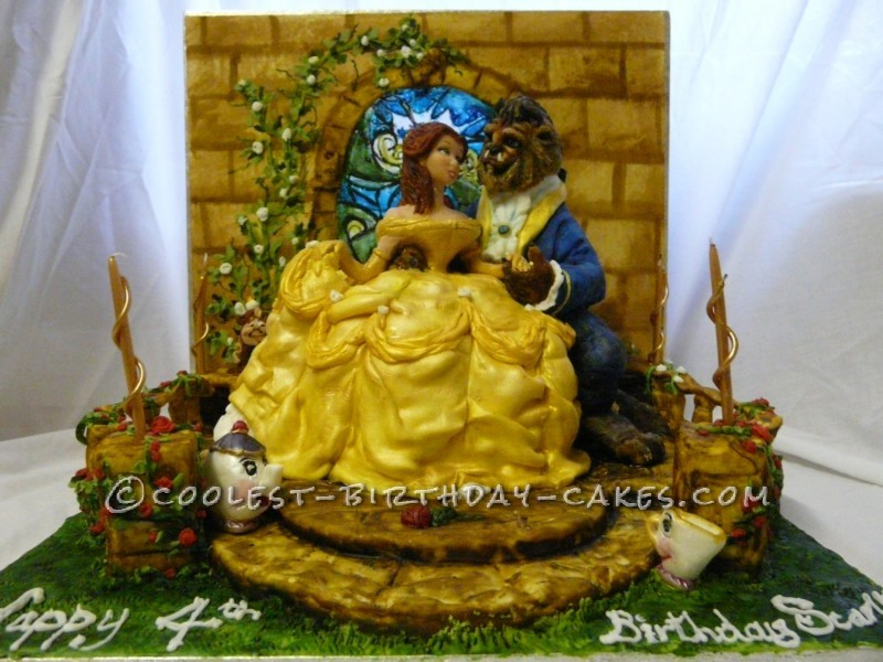 Princess Belle Beauty and the Beast Cake