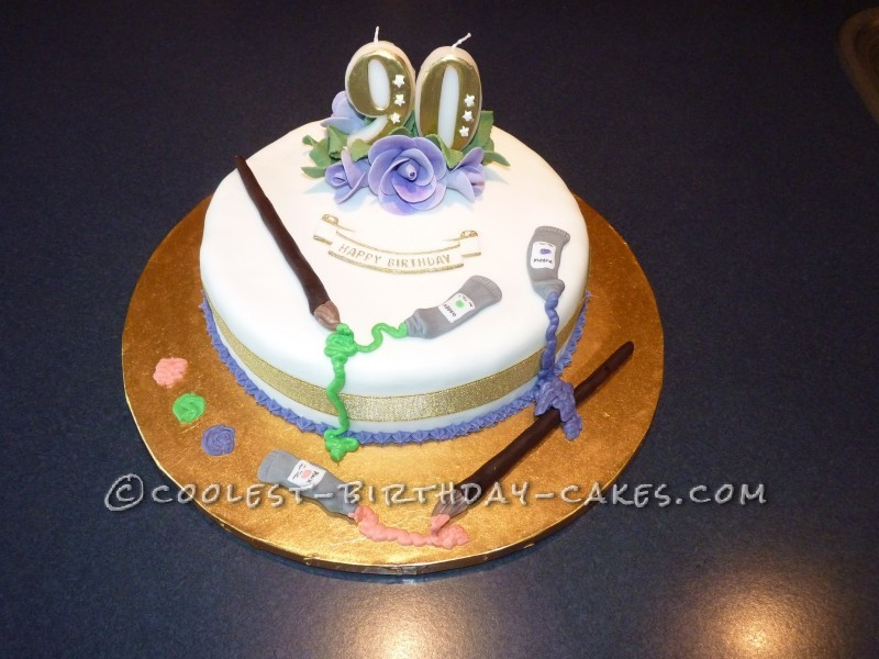 90 Year Old Birthday Cake