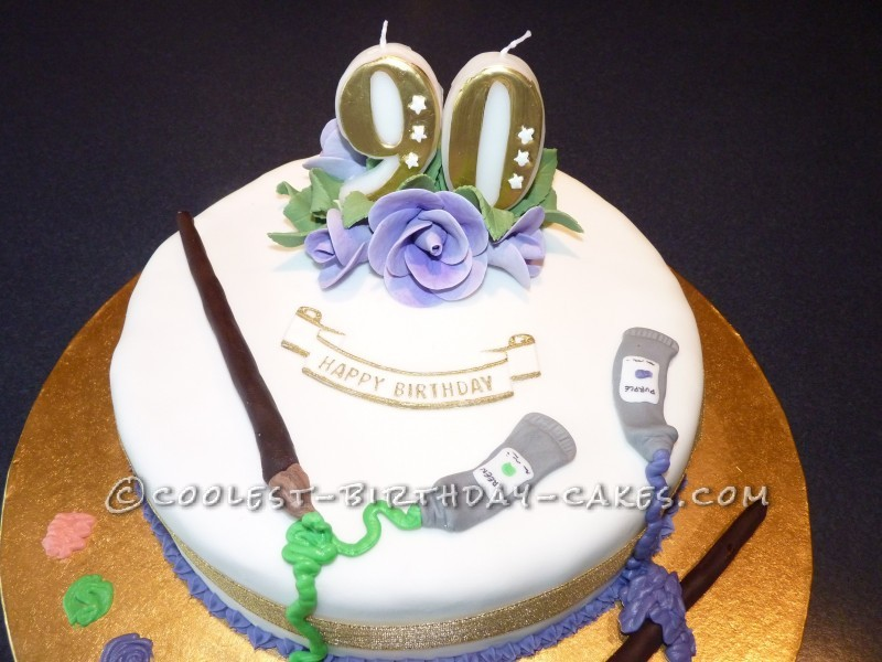 Cake Decorating Ideas For A 90 Year Old : Palette Birthday Cake for a 90 Year Old Artist