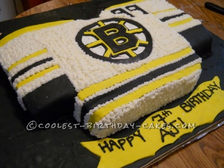 Boston Bruins Hockey Jersey Cake