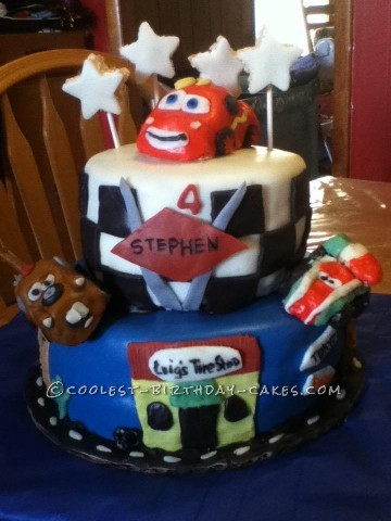 Coolest Cars 2 Birthday Cake