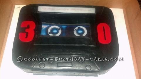 Cool Cassette Tape Cake
