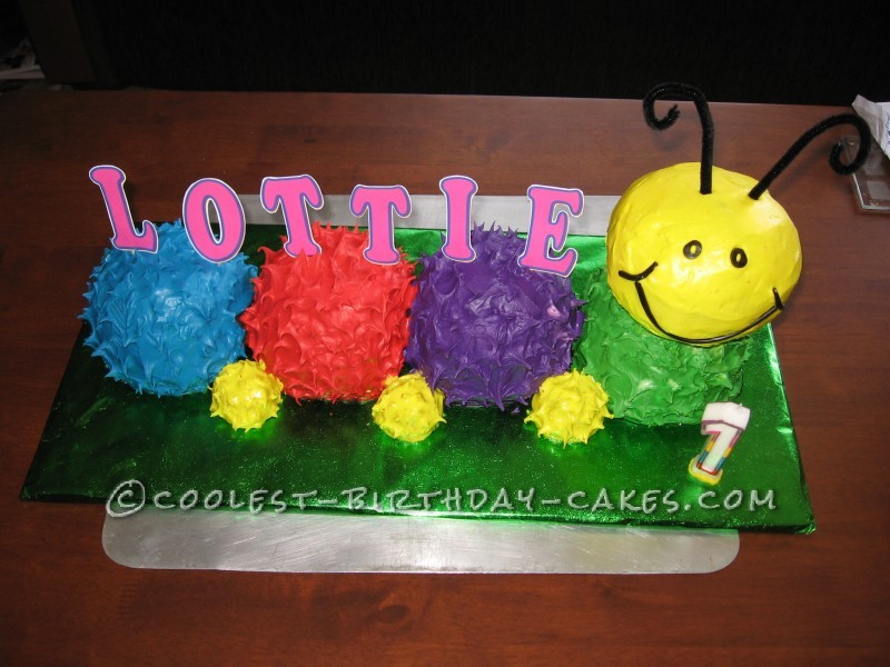 Colourful Caterpillar Cake