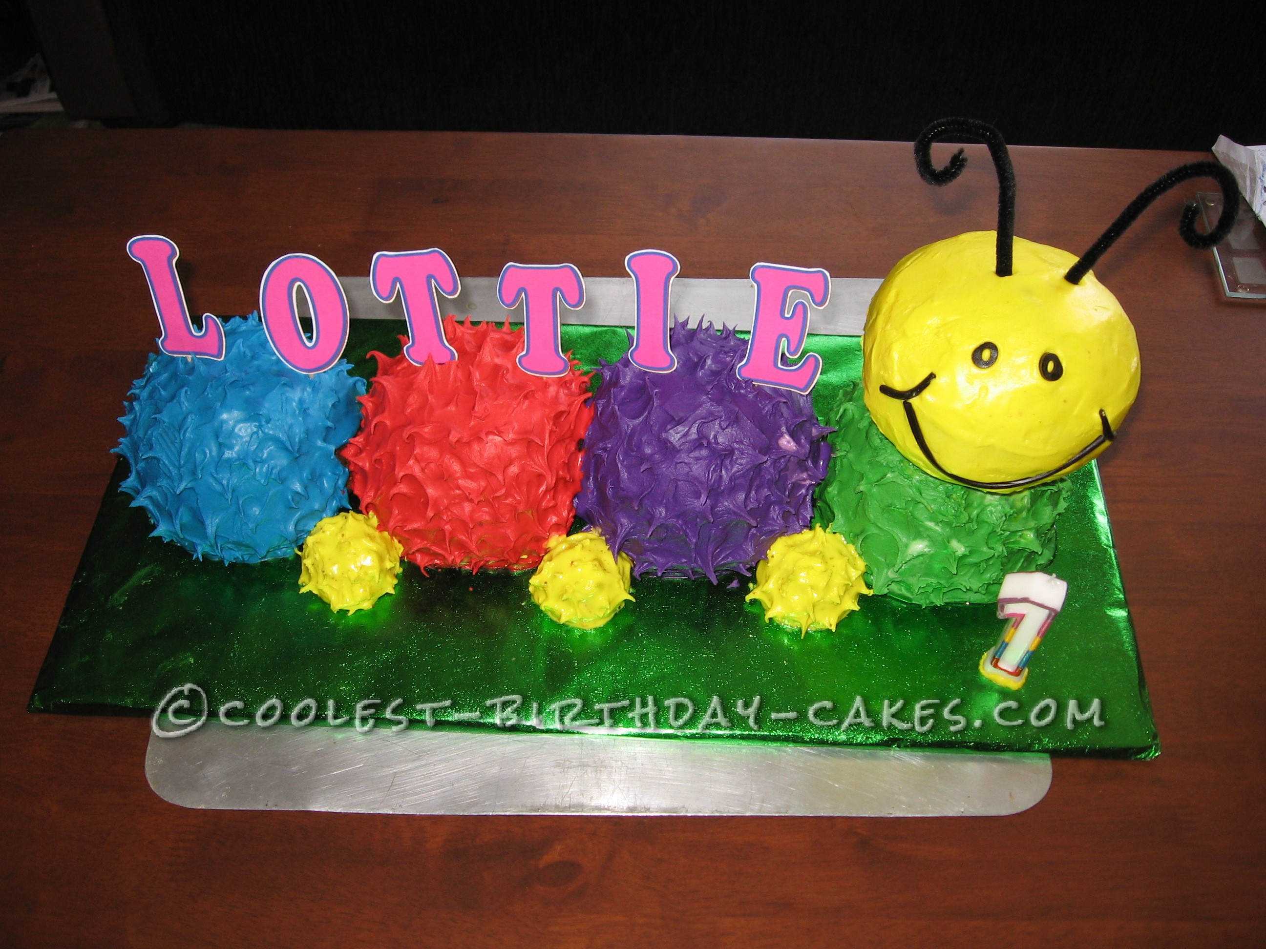 Colourful Caterpillar Cake