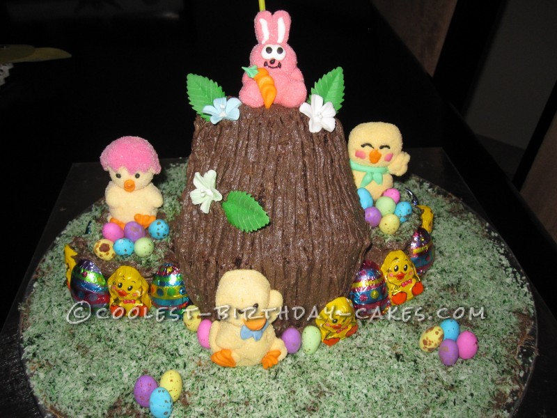 Colourful Easter Surprise Cake