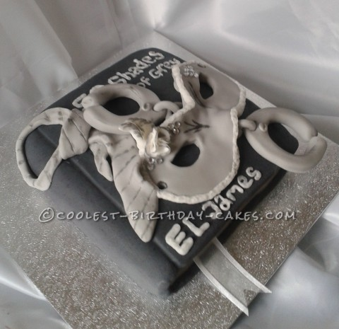 Coolest 50 Shades of Gray Book Cake