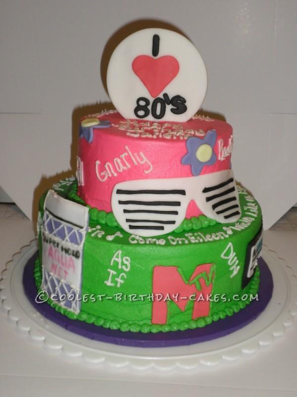 Groovy Coolest Homemade 80S Theme Cakes Funny Birthday Cards Online Elaedamsfinfo