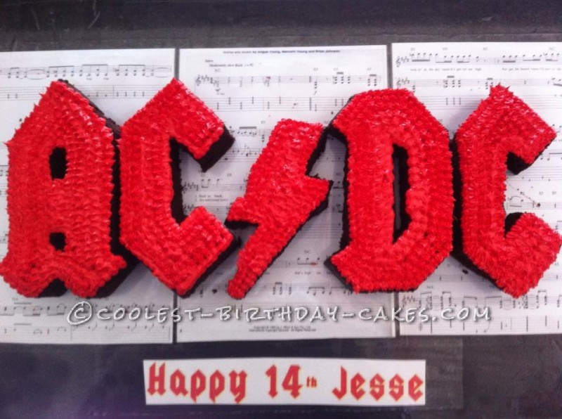 Coolest AC/DC Cake