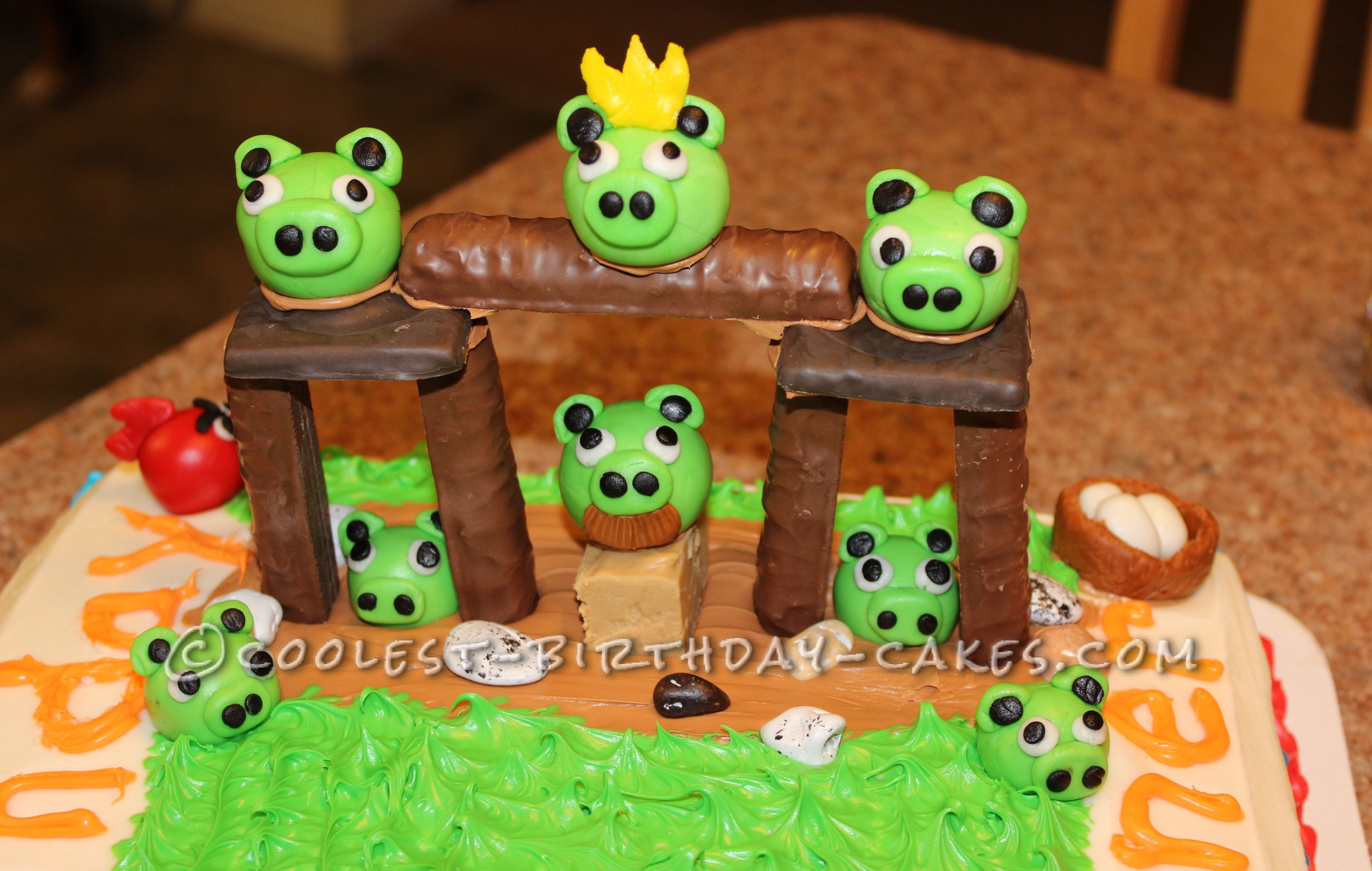 Coolest Angry Birds Birthday Cake