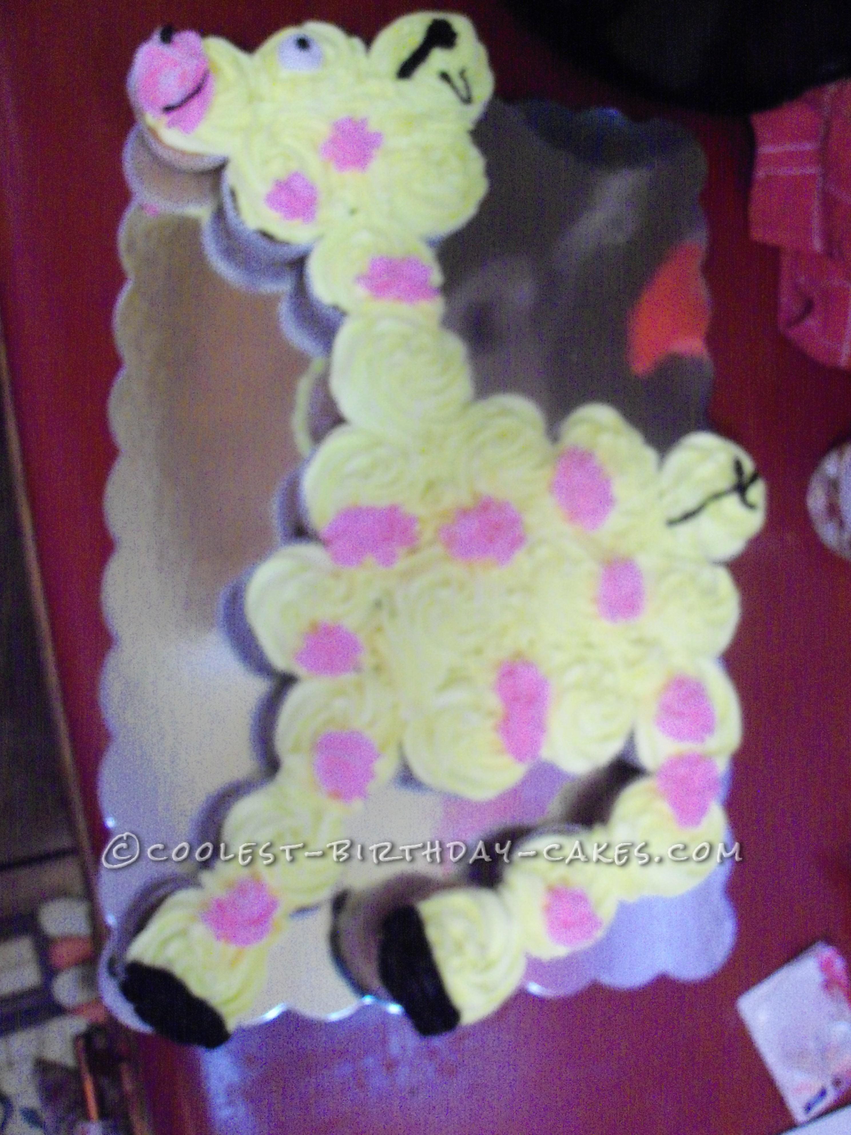 Coolest Baby Giraffe Cupcake Cake
