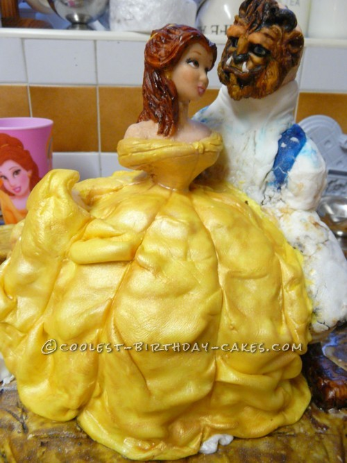 Coolest Beauty and the Beast Cake