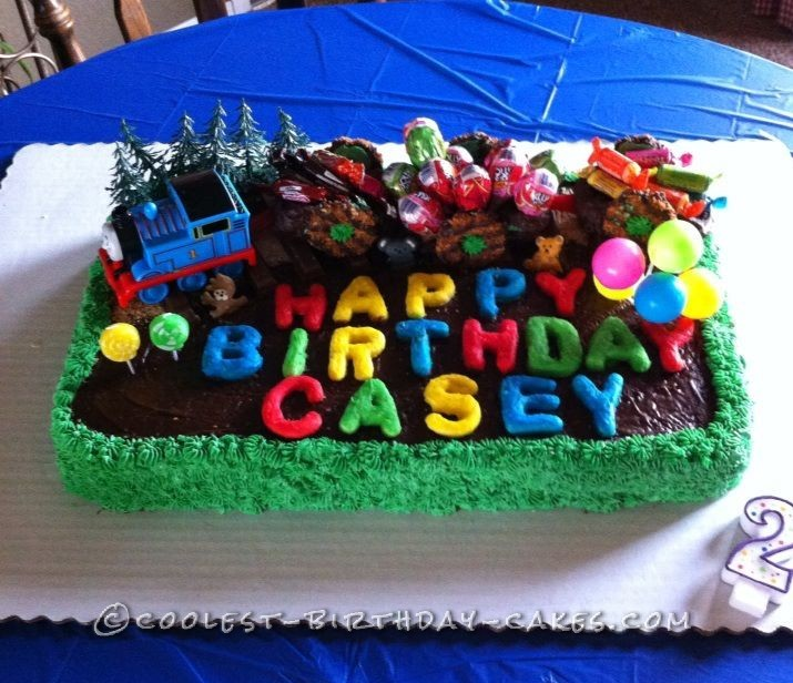 Strange Coolest Birthday Train Cake For 2 Year Old Funny Birthday Cards Online Inifodamsfinfo