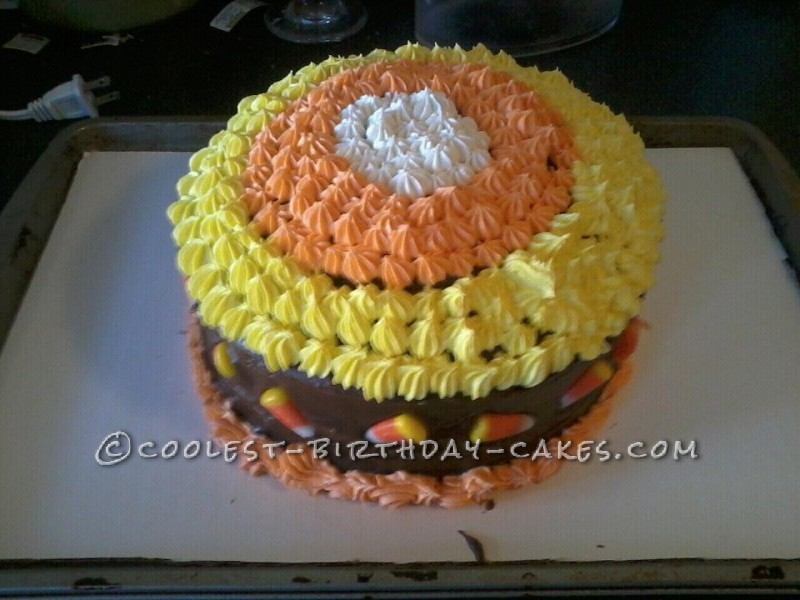 Coolest Candy Corn Cake